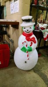 Blow Mold Snowman 1