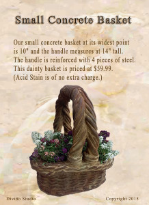 small concrete basket set4