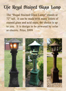 the regal stained glass lamp set2