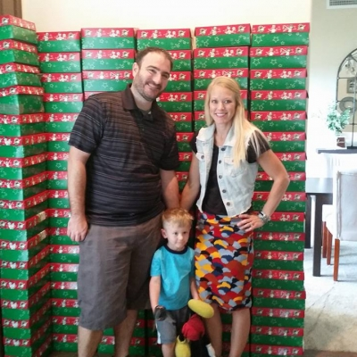 MOM nation and Operation Christmas Child 2017
