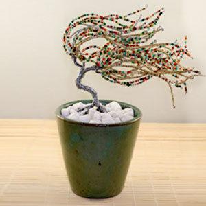 Mardi Gras, Multi Colored Wire Sculpture Tree