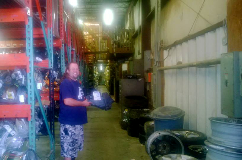 Jason pulling a part from inventory