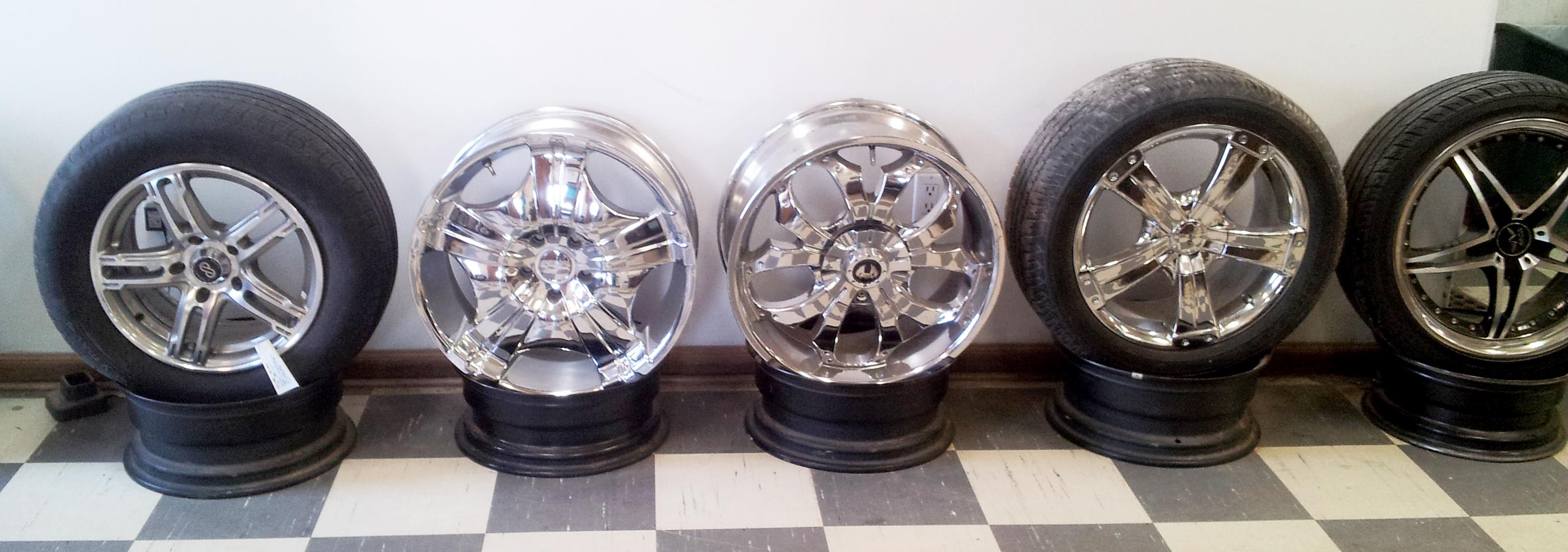 Shiny alloy wheels