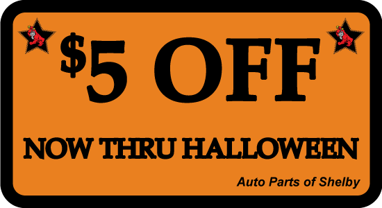 $5 OFF You Total Purchase thru Halloween 2014