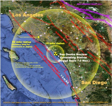 San Onofre earthquakemap