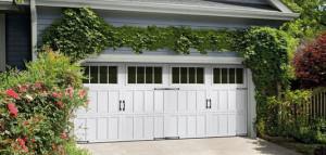 White new garage doors in London Ontario