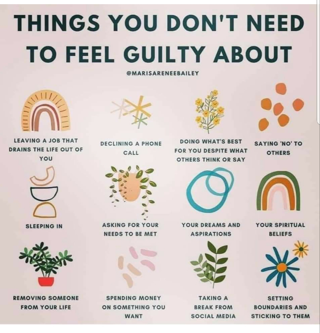 Things That You Don't Need to Feel Guilty About