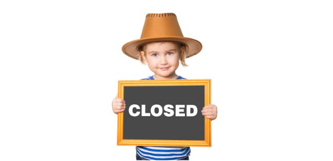 Closed April 6th – 16th, 2021