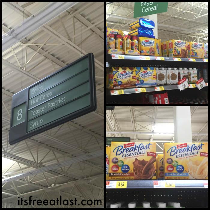 Carnation Breakfast Essentials at Walmart