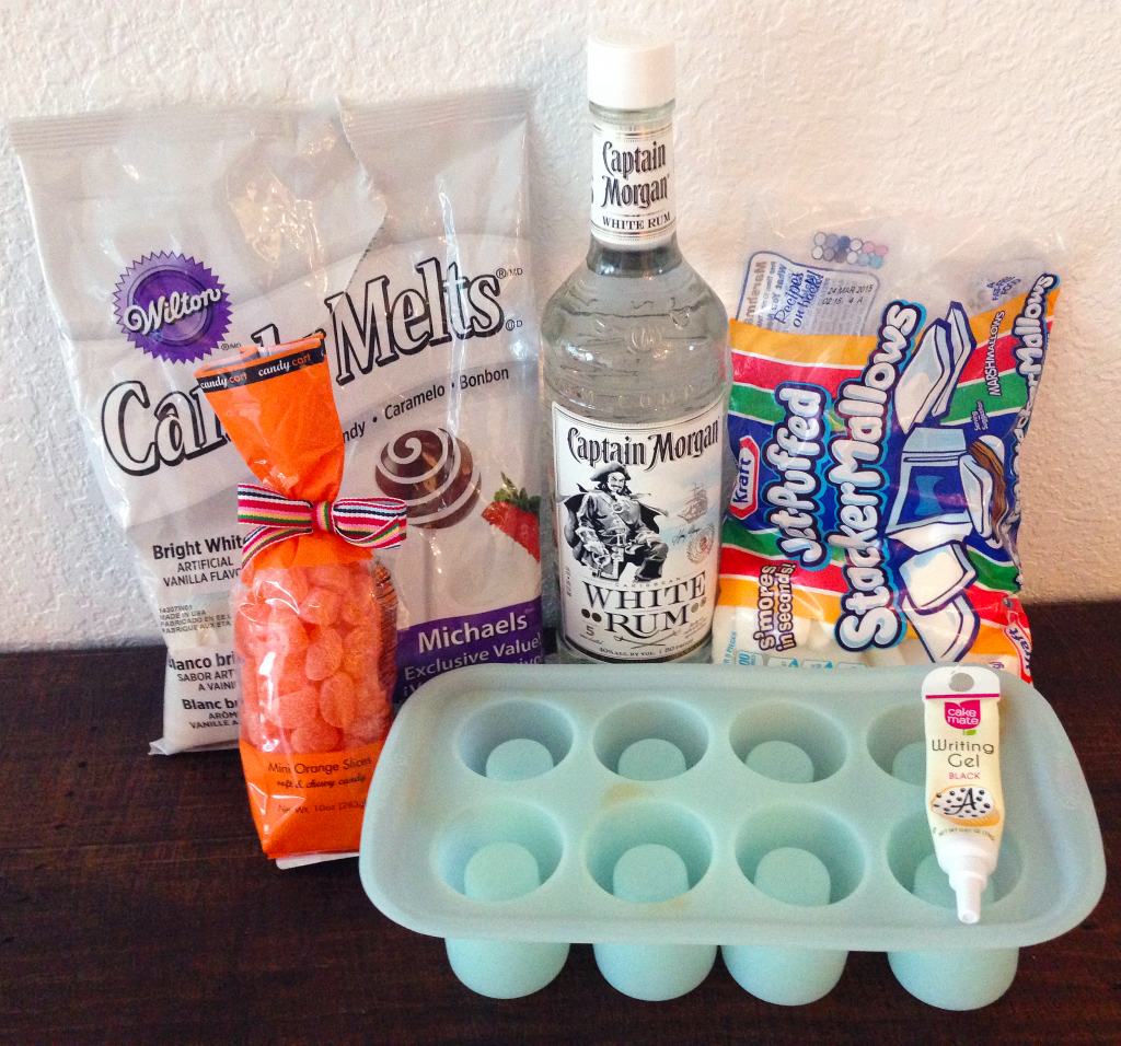 White Chocolate Ghost Shot Glass with Marshmallow Infused Rum Ingredients