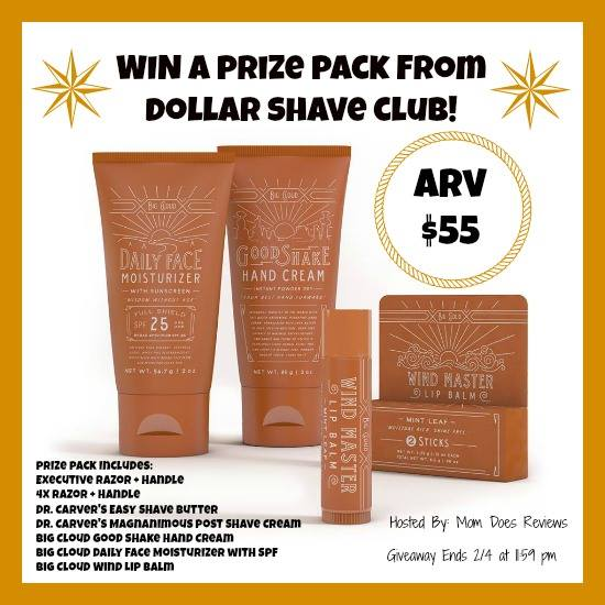 Dollar Shave Club Prize Pack Giveaway