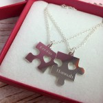 Mother & Daughter Puzzle Piece Necklaces