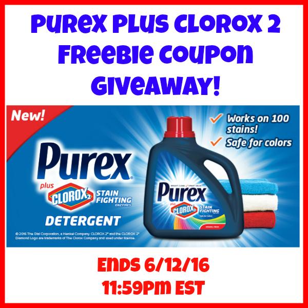 Purex Plus Clorox 2 Freebie Giveaway