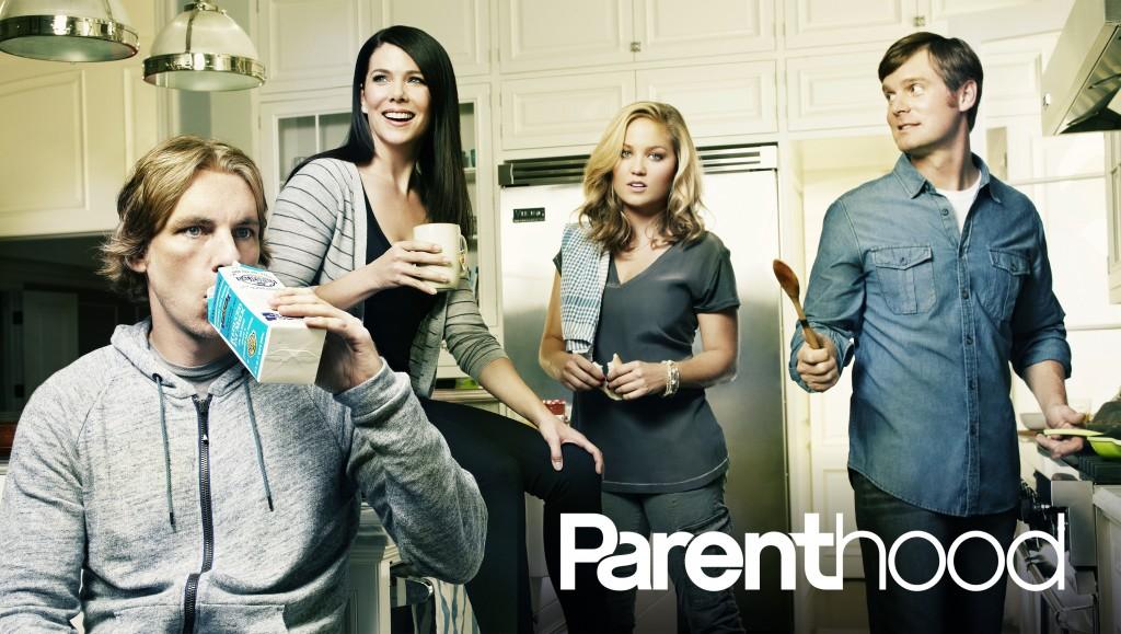 PARENTHOOD -- Season: 4 -- Pictured: (l-r) Dax Shepard as Crosby Braverman, Lauren Graham as Sarah Braverman, Erika Christensen as Julia Braverman-Graham, Peter Krause as Adam Braverman -- Photo by: NBC
