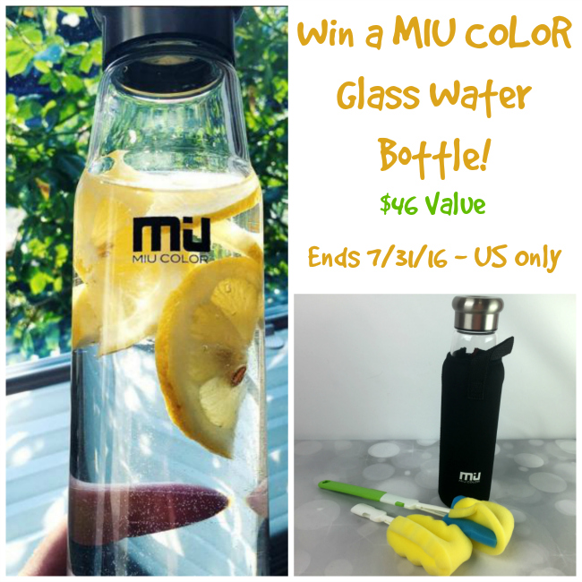MIU COLOR Glass Water Bottle Giveaway
