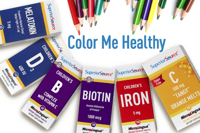 Color Me Healthy for Back to School with Superior Source Vitamins #SuperiorSource