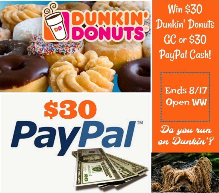 Win Dunkin or Paypal