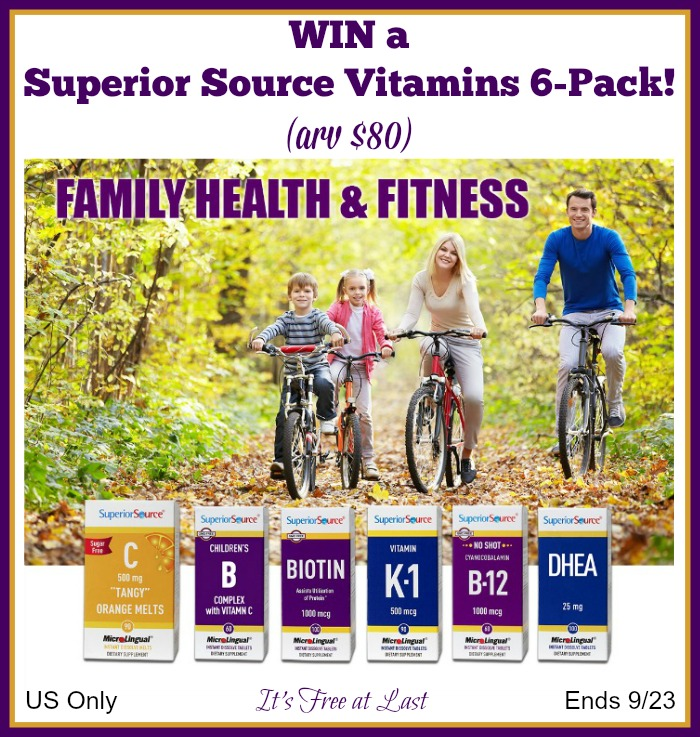 Superior Source Vitamin Giveaway button