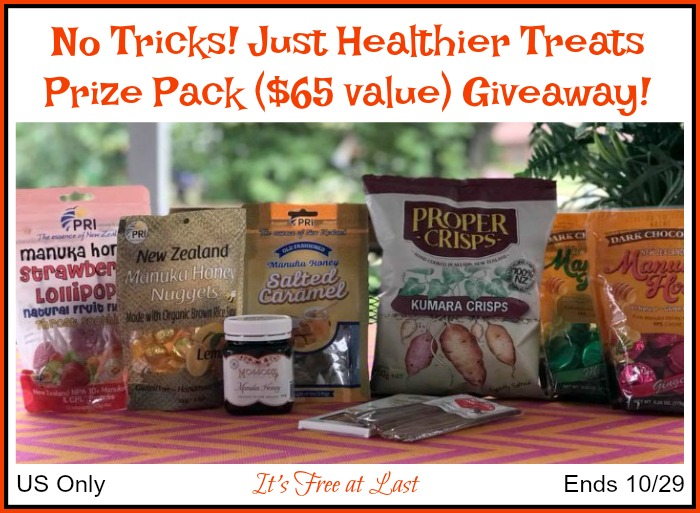 No Tricks, Just Treats Giveaway button