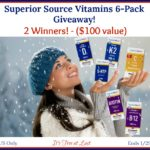 Superior Source Vitamins 6-Pack ($100 Value) Giveaway - 2 winners! #SuperiorSource