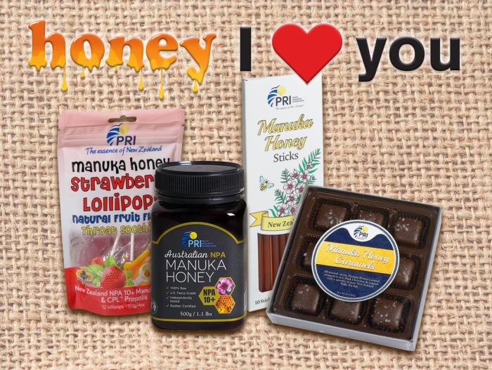 """Say """"Honey I Love You"""" with Tasty Treats from PRI #ManukaHoney #ShopPRI"""