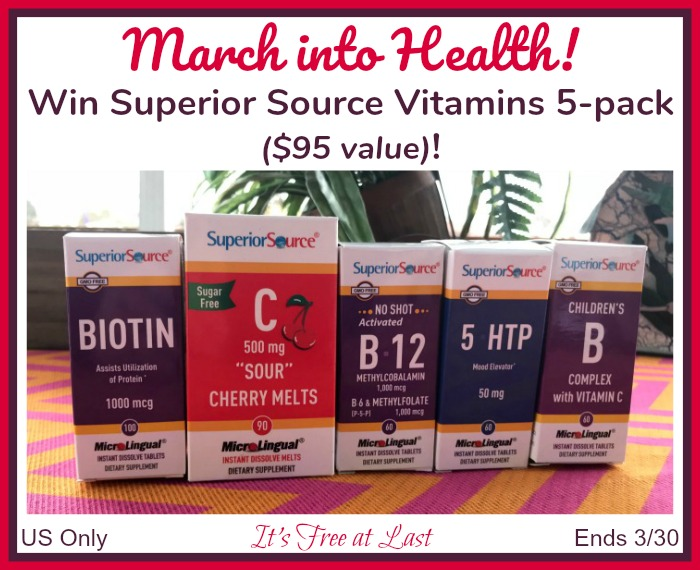 Win Superior Source Vitamins 5-pack ($95 value)! #SuperiorSource