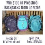 Win $100 from Obersee Backpacks