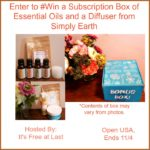 Enter to #Win a Subscription Box of Essential Oils and a Diffuser from Simply Earth