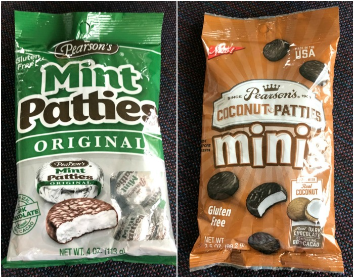 Pearson's Mint Patties and Coconut Patties collage
