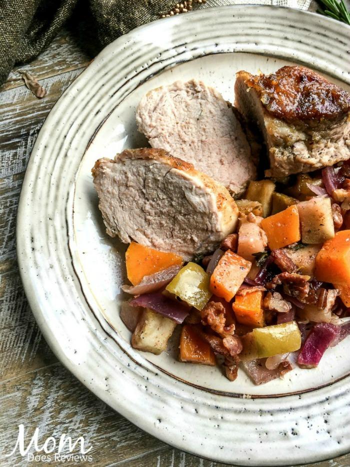 One-Skillet Honey Applesauce Pork Roast