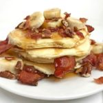 Nutty Bacon Banana Pancakes