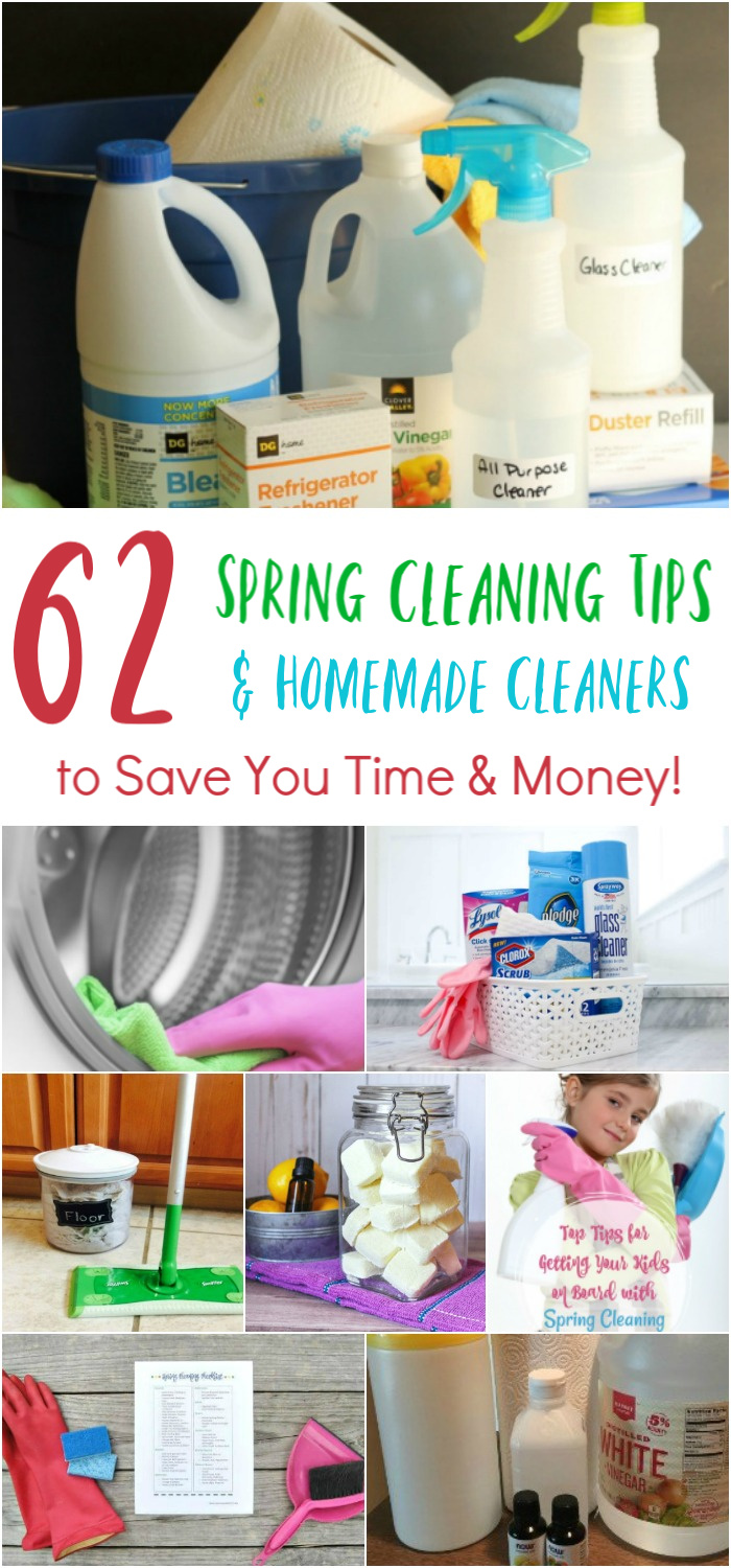 62 Spring Cleaning Tips & Homemade Cleaners to Save You Time & Money!