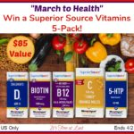 """Win a """"March to Health"""" Vitamins 5-Pack ($85 Value)! #SuperiorSource"""