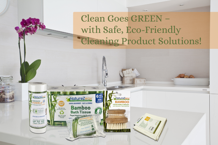 Clean Goes GREEN with #NatureZway Safe, Eco-Friendly Cleaning Product Solutions! #NatureZwayEco