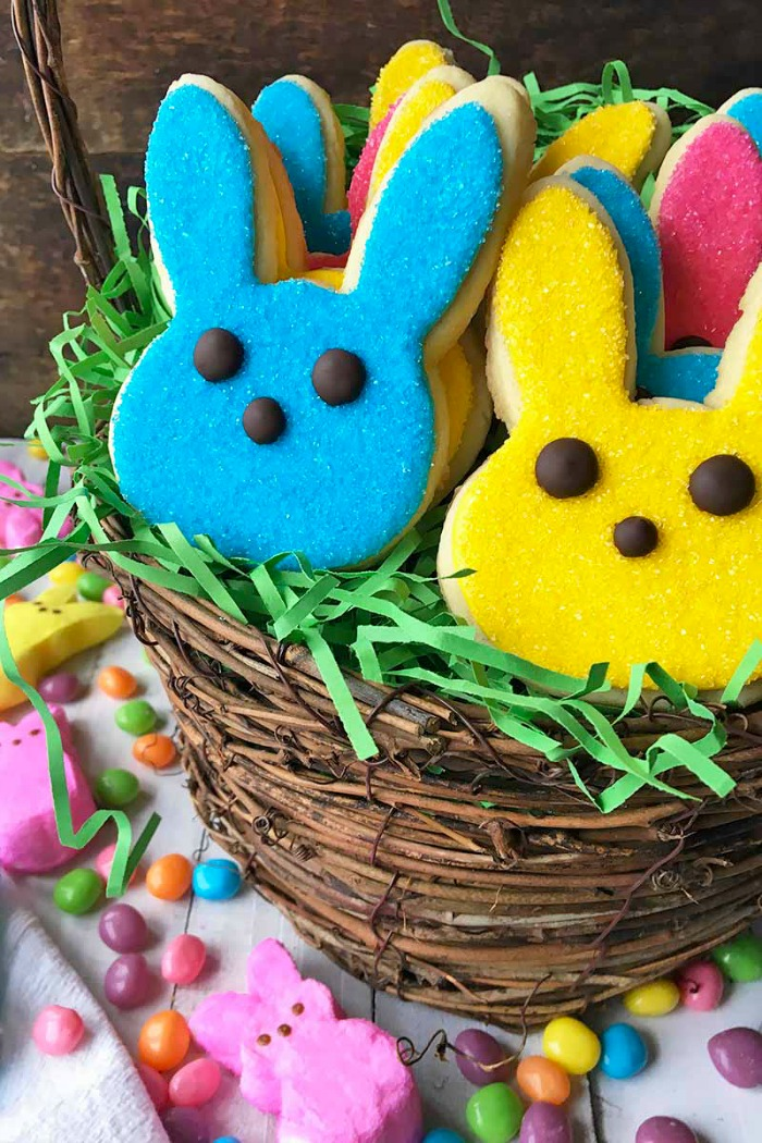 Peeps Easter Bunny Sugar Cookies