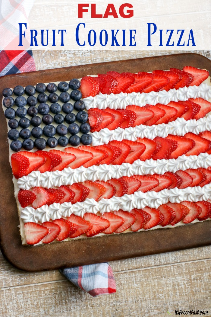 Flag Fruit Cookie Pizza