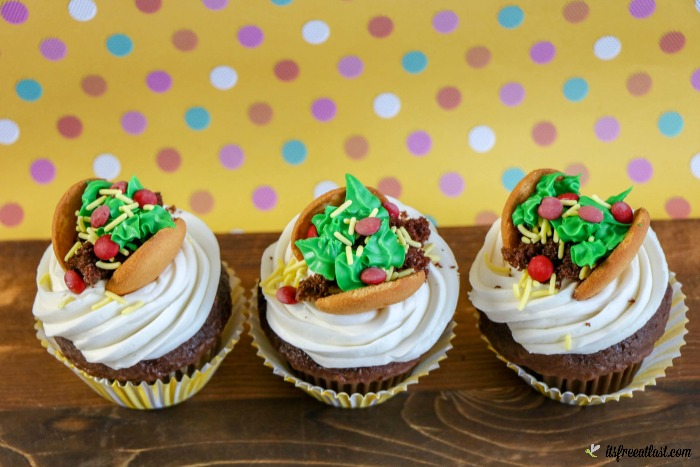 Taco Cupcakes are Fun, Adorable, & Delicious!