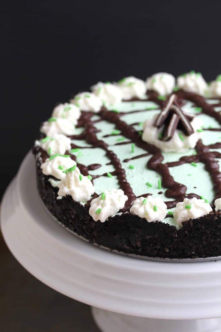 Baileys Mint Chocolate Cream Pie