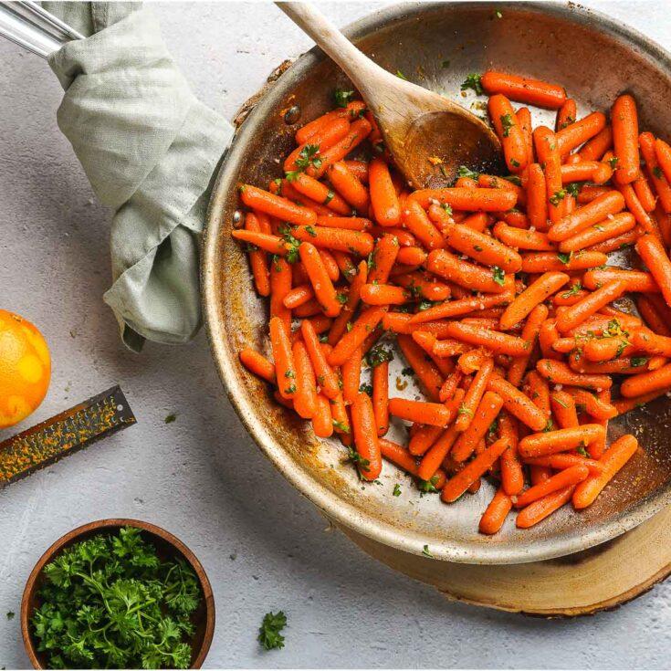 Easy Honey Orange Glazed Carrots