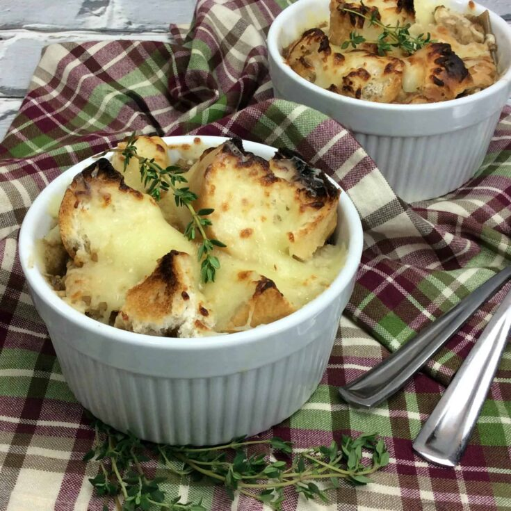 Slow Cooker Hearty Guinness French Onion Soup