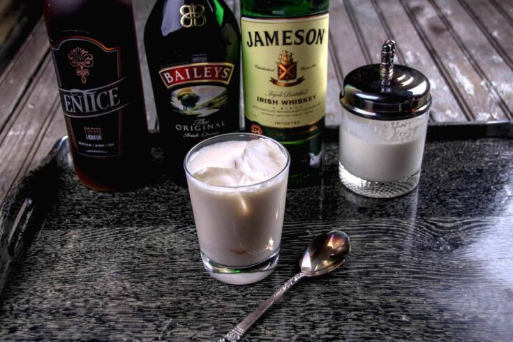 Irish White Russian Cocktail with Four Ingredients