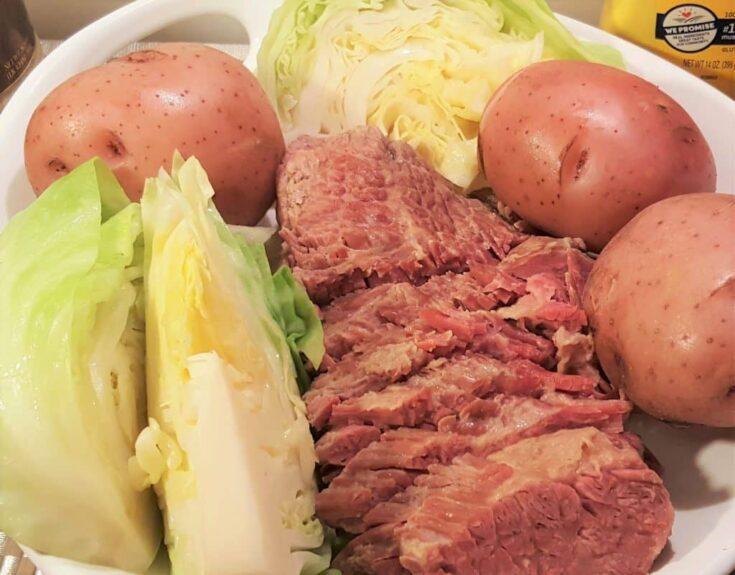 Pressure Cooker New England Boiled Dinner