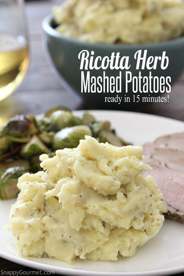 Ricotta Herb Mashed Potatoes Recipe