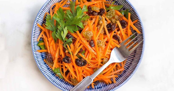 Carrot Raisin Salad with Lemon Aioli