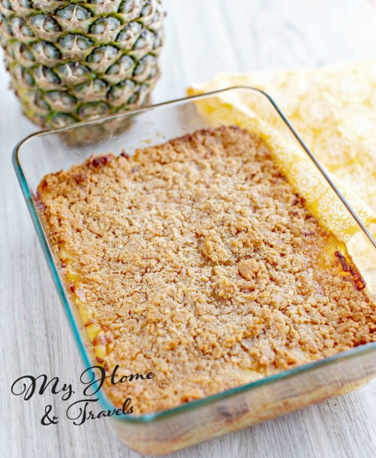 Baked Pineapple And Cheese Casserole
