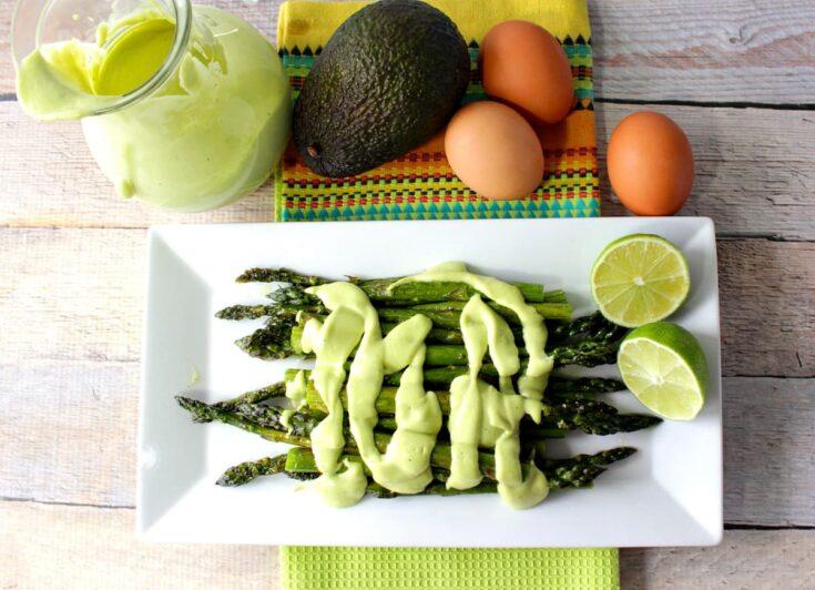 Roasted Asparagus with Avocado Hollandaise