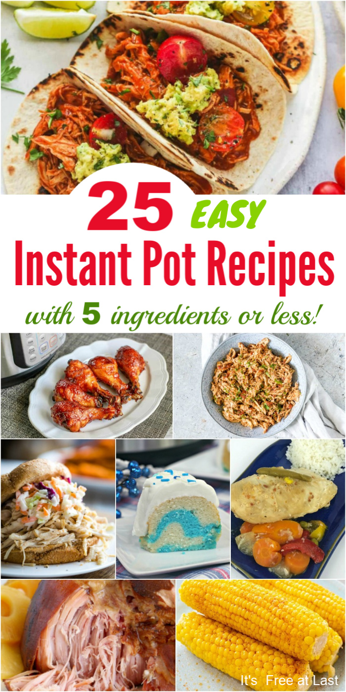 25 Easy Instant Pot Recipes with 5 Ingredients or Less