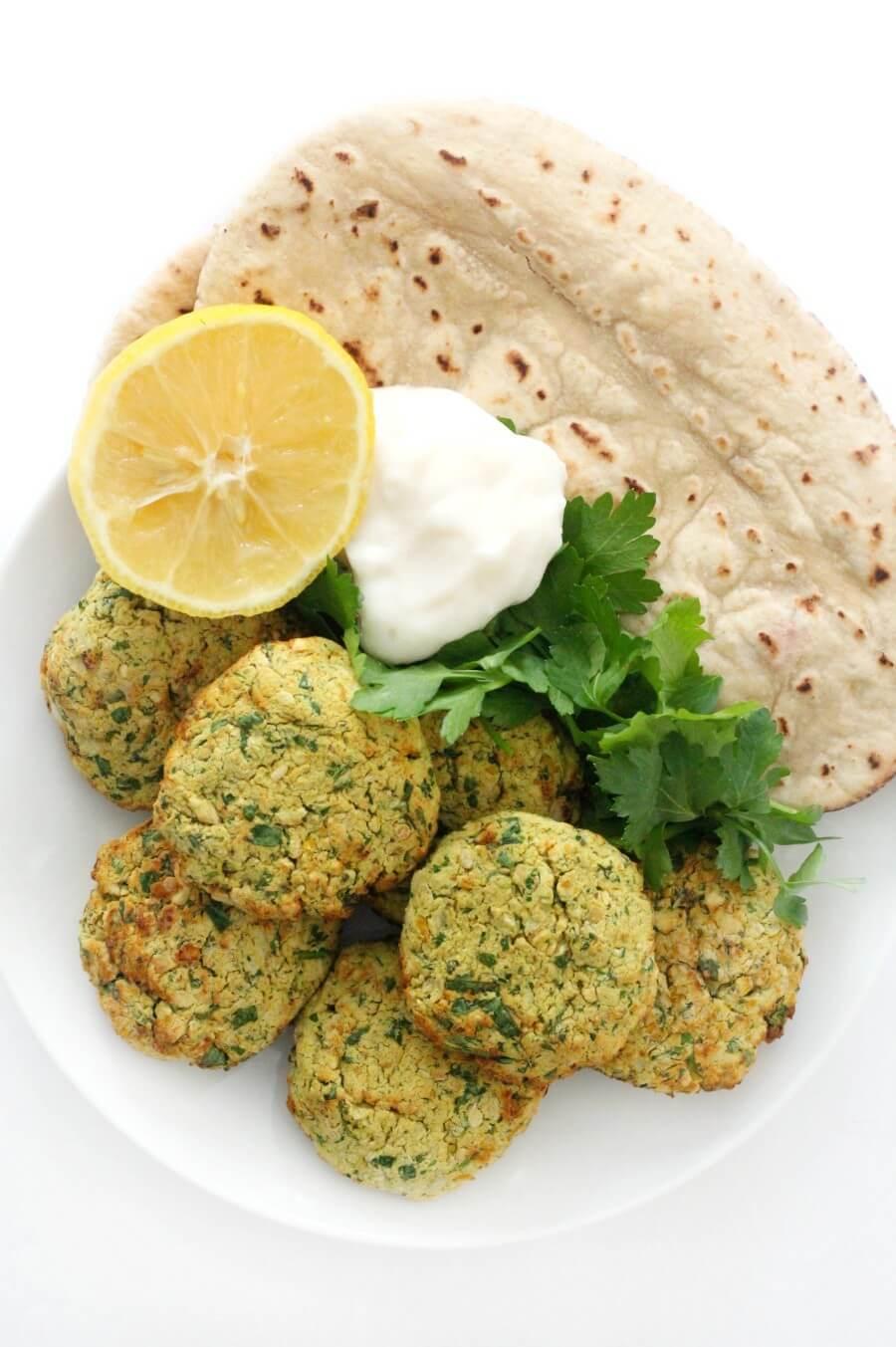 Healthy Air Fryer Falafel Recipe (Vegan, Gluten-Free, Oil-Free)