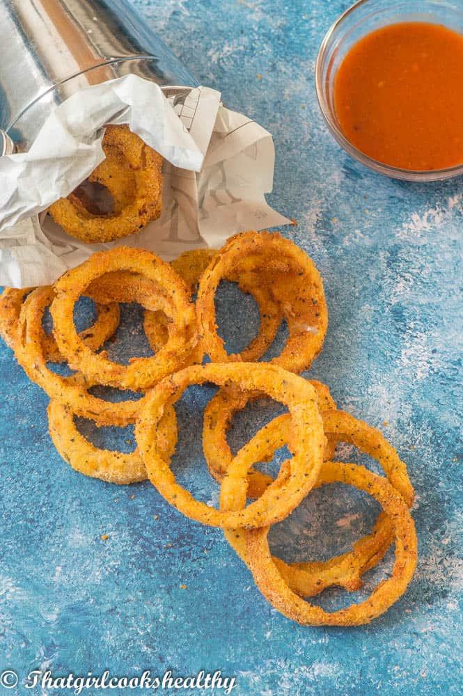 Gluten free air fryer onion rings