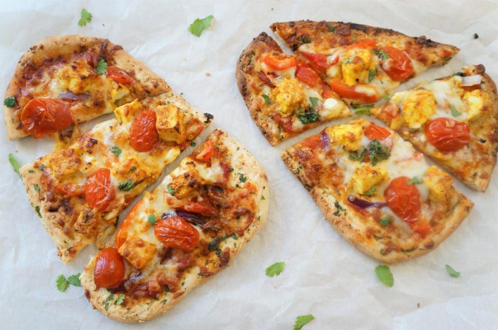 Tandoori Paneer Naan Pizza - Air Fryer / Oven